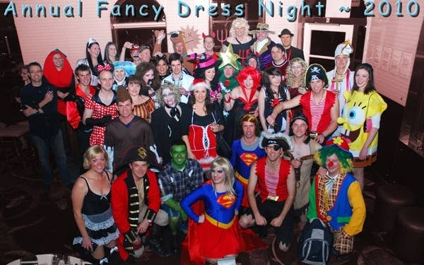 Heaven Costumes and British Aerospace workers having a fun night!