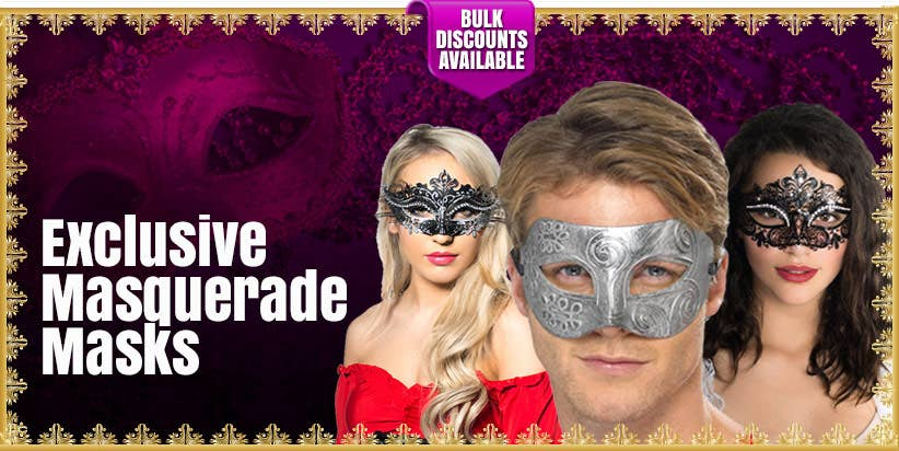 Shop Our Exclusive Range Of Adults' Masquerade Masks
