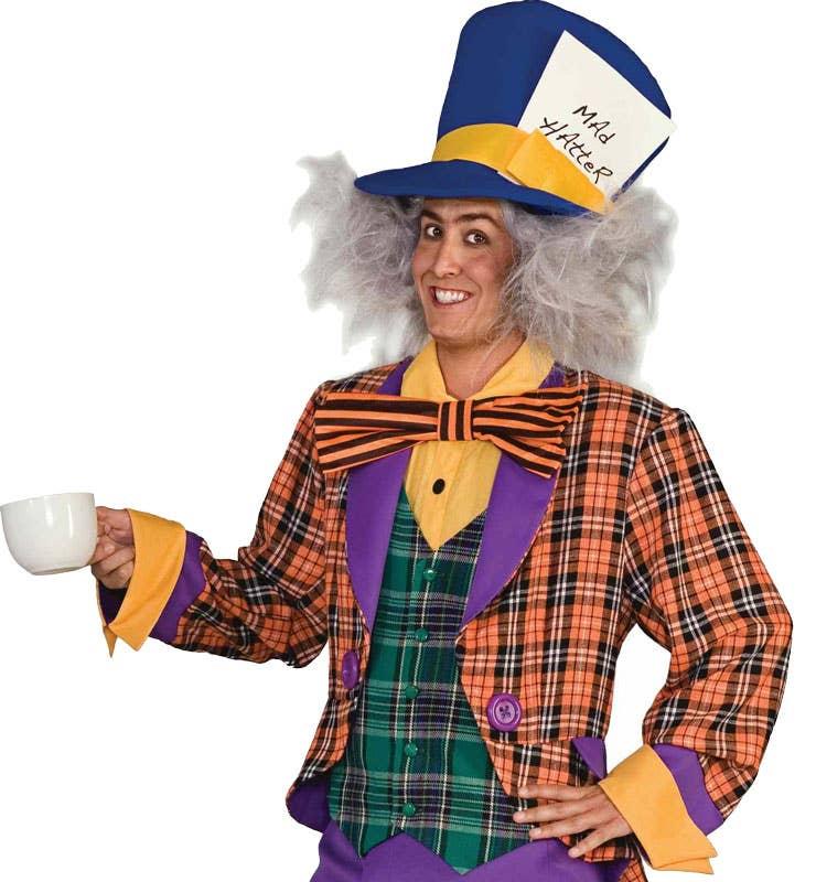 Tea Party Mad Hatter Men's Fancy Dress Costume