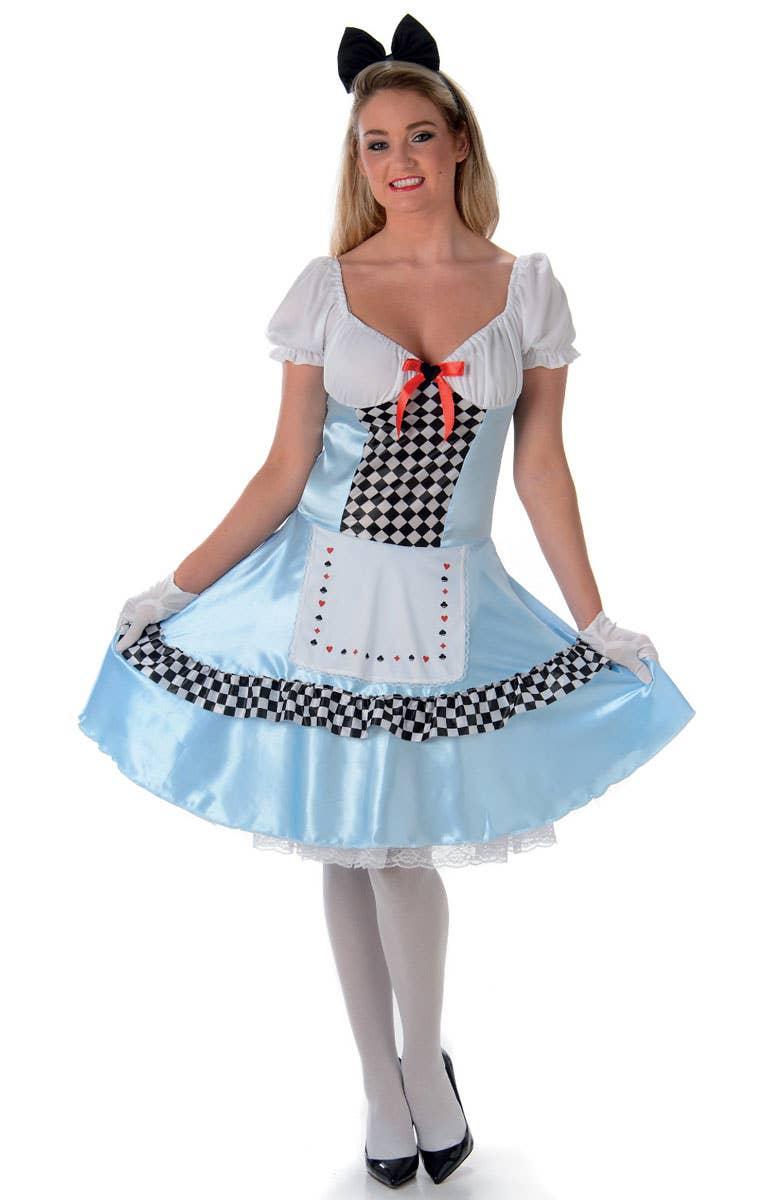 Tea Party Womens Alice In Wonderland Costume Genuine Karnival ...