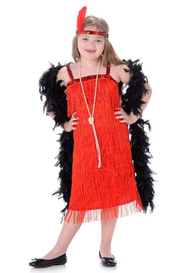 1920's Red Flapper Girls Gatsby Costume