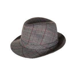 c41c5300a1e2b Light Grey Plaid Burbs Fedora Hat