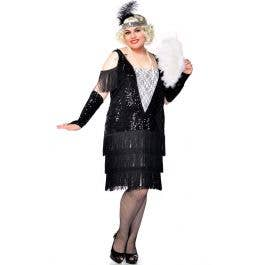 Gatsby Girl Deluxe Plus Size 1920\'s Flapper Costume