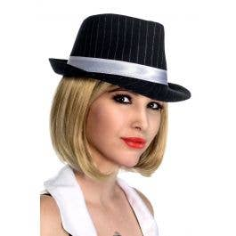 Pinstriped Trilby with White Band  421c800fb2d