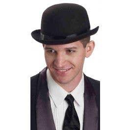 0195eae11 English Gentleman's Black Bowler Hat