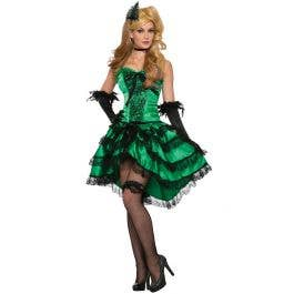 80e996e577a Saloon Showgirl Women s Green Sexy Costume