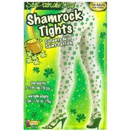 Shamrock Stockings White and Green Irish St Patrick/'s Day Adult Stockings