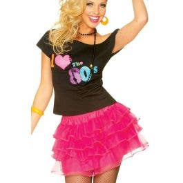 64eb2f7aa 1980's Pink Costume Petticoat | Women's Hot Pink Ra Ra Skirt