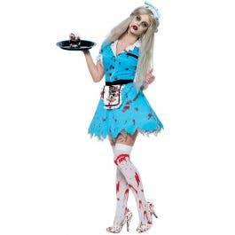 c50d3fc01062 Zombie Waitress Halloween Costume | Women's Diner Girl Zombie Costume