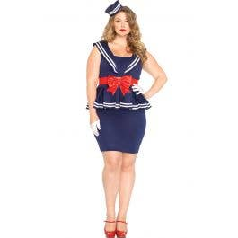 Aye Aye Amy Women\'s 1940\'s Sailor Costume - Plus Size