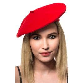 12a79e98d01bf Red French Costume Beret