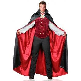 Cape Reversible Satin Men/'s S to XXL Christmas Red /& Green Cloak Red /& Blue USA