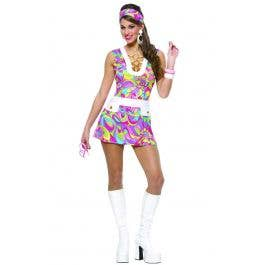 NEW Costume Culture 48251 Groovy Chic Dress /& Headband Women Adult Plus