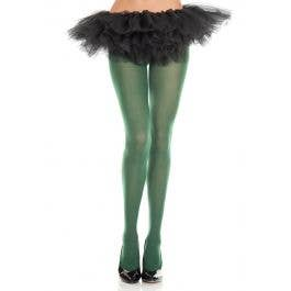 LIME GREEN GLITTER TIGHTS Women Stockings Adult Pantyhose Costume Fairy Witch