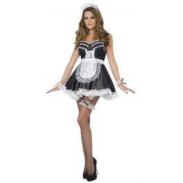 Adults Womens Time Period Lace Leg Garter Wallet Costume Accessory