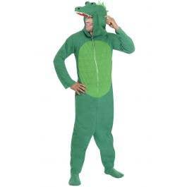 Boys Girls Green Snappy Crocodile Animal Halloween Fancy Dress Costume Outfit