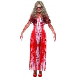 Brand New Carrie Inspired Bloody Prom Queen Adult Halloween Costume
