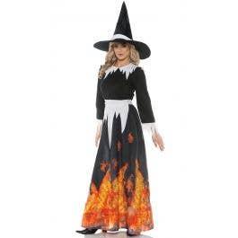 Halloween-Horror-Evil-SALAM WITCH BLACK WIG /& HAT Fancy Dress Set One Size