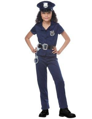 Cute Cop Girls Police Officer Occupation Fancy Dress Costume