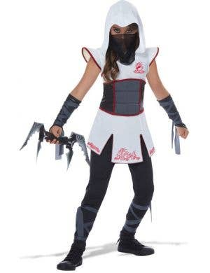 Fearless Ninja Warrior Girls Fancy Dress Halloween and Bookweek Costume