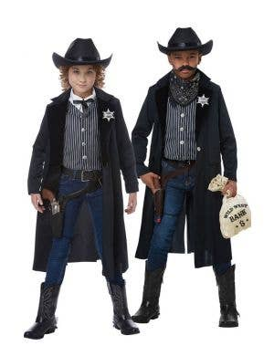 Kids Wild West Cowboy Sheriff Fancy Dress Costume