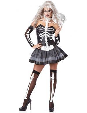 Women's Sexy Skeleton Masquerade Halloween Costume