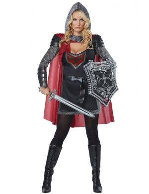 Women's Valorous Medieval Knight Fancy Dress Costume