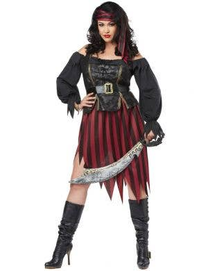 Queen Of The High Seas Women's Plus Size Pirate Wench Halloween Costume