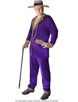 Top Pimp Plus Size Mac Daddy Costume - Purple