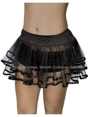 Bound Petticoat Underskirt - Black with Black