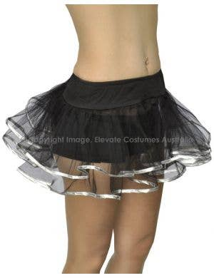 Bound Costume Underskirt - Black with Silver