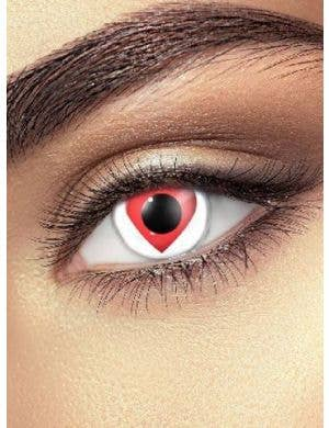 Queen of Hearts 90 Day Wear Red Heart Contact Lenses