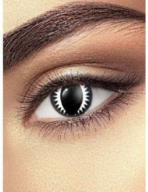 Dragon Eye Black 90 Day Wear Halloween Contact Lenses