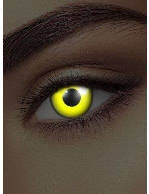 Yellow UV Reactive Coloured Contact Lenses Made By Funky Vision - View 1