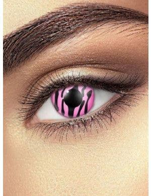 Zebra Pink 90 Day Wear Colour Contact Lenses