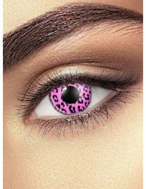 Cheetah 90 Day Wear Pink Coloured Contact Lenses