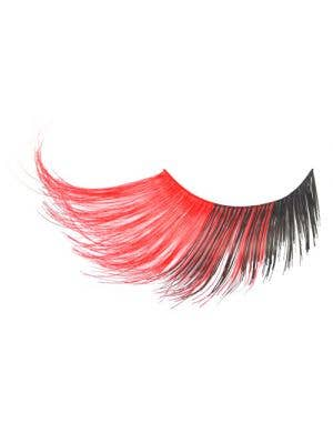 Adults Jumbo Red And Black Halloween Costume Eyelashes Main Image