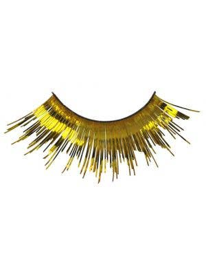 Gold Tinsel Metallic Costume Eyelashes Main Image