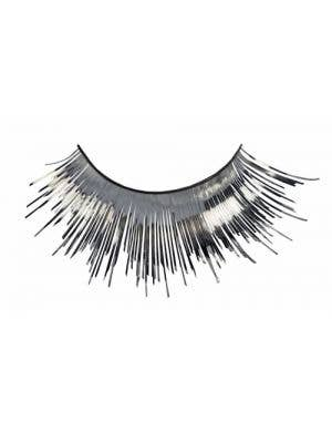 Metallic Silver Tinsel Costume Eyelashes Main Image
