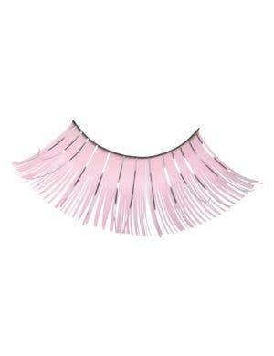 Women's Long Pale Pink Costume Eyelashes Main Image