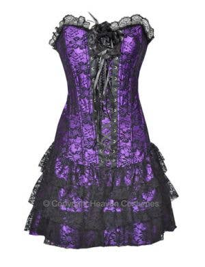 Spanish Skirted Women's Sexy Purple Corset