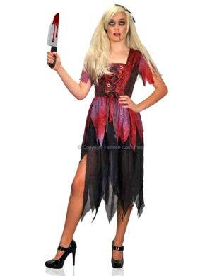 Women's Halloween Cinderella Fancy Dress Costume Main Image