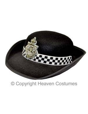 Women's Black Police Officer Bowler Costume Hat