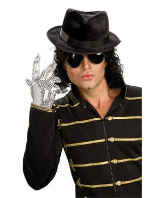 Sequined Silver Michael Jackson Costume Glove