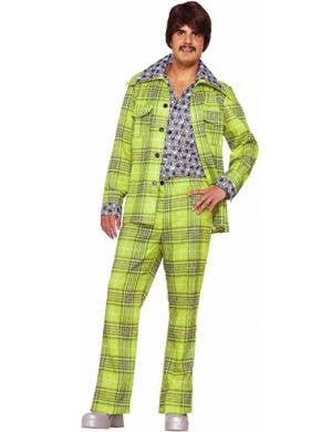 70's Retro Green Leisure Suit Costume