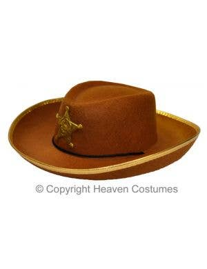 Wild West Cowboy Brown Costume Hat