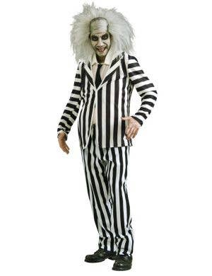 Men's Beetlejuice Halloween Costume Front View