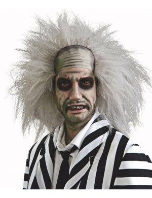 Men's Grey Beetlejuice Frizzy Halloween Costume Wig