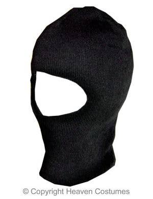 Black Knitted Balaclava Halloween Costume Accessory