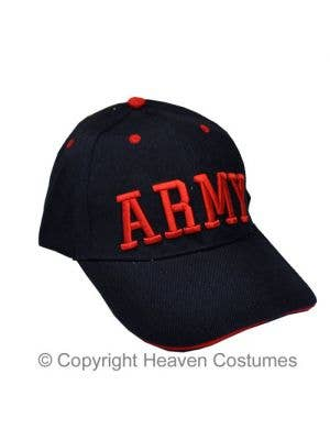 Blue Army Baseball Cap Costume Accessory